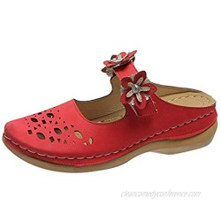 Women's Fashion All-Match Wedge Heel Flower Shoes Hollow Casual Sandals
