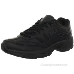 Fila Women's Memory Workshift Cross-Training Shoe Black/Black/Black 8 M US